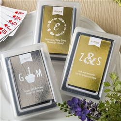 Metallics Collection playing cards with Personalized Sticker