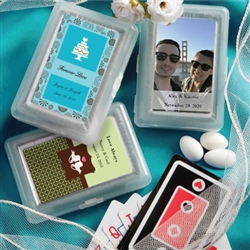 Personalized Expressions playing card favors