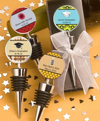 Personalized Expressions Collection Wine Bottle Stopper Favors On Sale At The Wedding Shoppe Canada