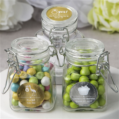 Personalized Metallics Apothecary Jars
