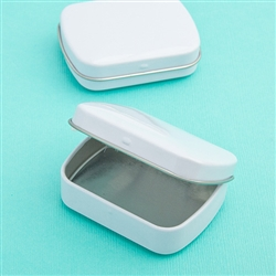 Plain White Mint Tins