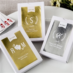 Personalized Metallics Collection playing cards with Personalized Sticker