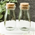 Perfectly plain collection Vintage Glass milk bottle with round cork top