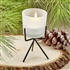 TRENDY FROSTED GLASS CANDLE WITH METAL BASE
