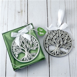 Tree of Life Pewter Finish Ornament Favor