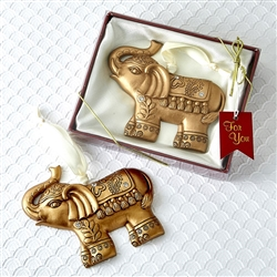 Gold Good Luck Elephant Ornament Favor