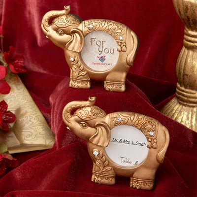 Good luck gold Indian elephant picture frame