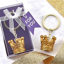 Royal Collection Gold Crown Keychain