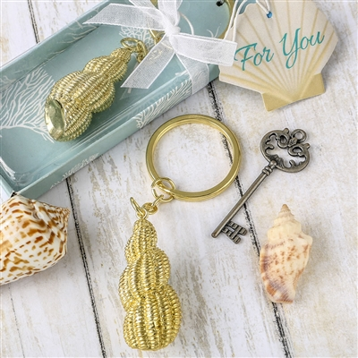 CONCH SHELL KEY CHAIN
