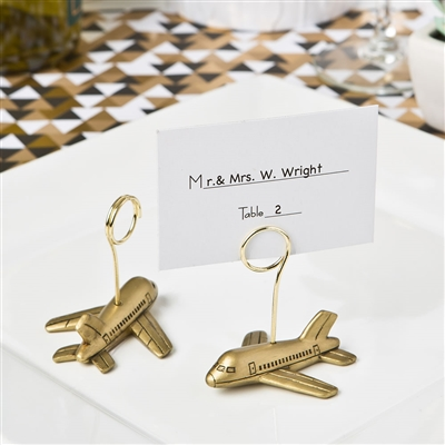 Airplane design placecard or photo holder