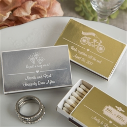 Personalized Metallics Collection Matchbox Favors (pack of 50)