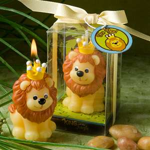 Adorable <em>King of the Jungle  Collection</em> candle favors