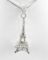 Crystal Eiffel Tower Necklace