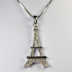 Crystal Eiffle Tower Necklace