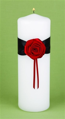 Midnight Rose Unity Candle