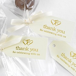 Linked at the Heart Ivory Favor Cards