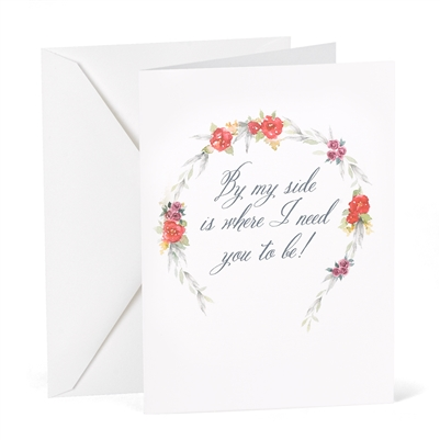 By My Side - Wedding Day Card