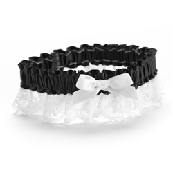 Ribbon and Lace - Garter - Black