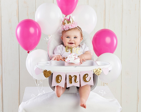 Gold Glitter 1st Birthday Decor Kit Larger Photo