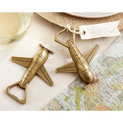 """Our Adventure Begins"" Airplane Bottle Opener"