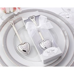 """Tea Time"" Heart Tea Infuser in Elegant White Gift Box"
