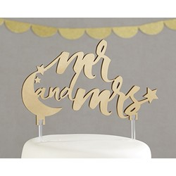 Under the Stars Mr. and Mrs. Cake Topper