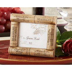 """Vive la Vin"" Cork Place Card/Photo Frame"