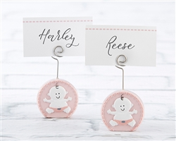 Baby Girl Pink Place Card Holder (Set of 6)