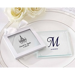 Personalized Glass Coasters (Wedding) (Set of 12)
