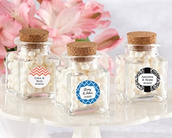 """Petite Treat"" Square Glass Favor Jar - (Set of 12)"