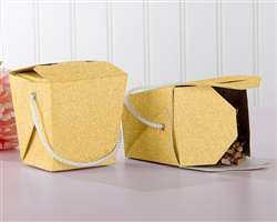Gold Glitter Takeout Box (Set of 12)