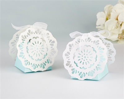 Something Blue Lace Favor Box (Set of 12)