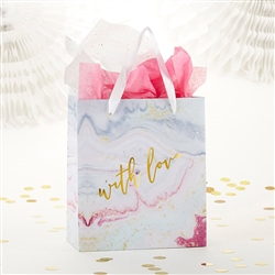 With Love Marbleized Gift Bag (Set Of 6)