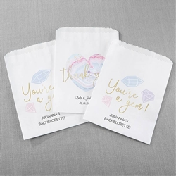 Personalized White Goodie Bag - Elements (Set of 12)