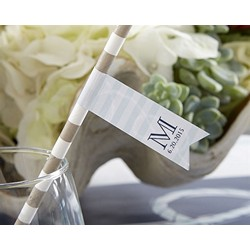 Personalized Party Straw Flags - Rope