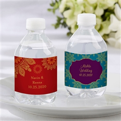 Personalized Water Bottle Labels - Indian Jewel