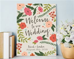 Personalized Vintage Wedding Poster (18x24)