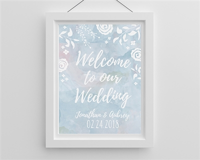 Personalized Ethereal Wedding Wedding Poster (18x24)