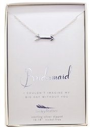 Couldn't imagine my day without you - Bridesmaid Necklace