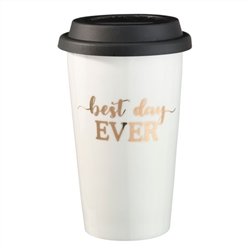 """Best Day Ever"" Ceramic Travel Mug"