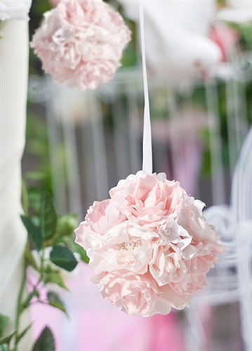 Blush Pink Flower Ball On Sale At The Wedding Shoppe Canada