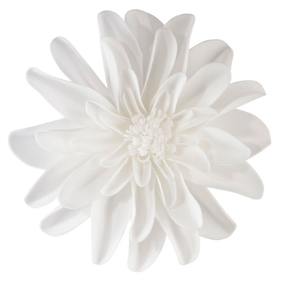 "Set of 2 White 7.5"" Flower Decorations"