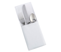 White Silverware Holder -Set of 4