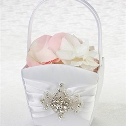 Jeweled Motif Flower Basket