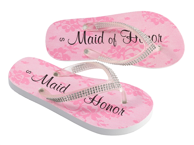 5436d4b192ae Maid of Honor Flip Flops with Rhinestones - ON SALE at The Wedding ...
