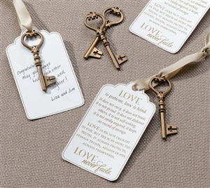 Christian Bronze Key Tags for Guest Signing