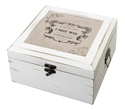 Antique White Card Box-True Love