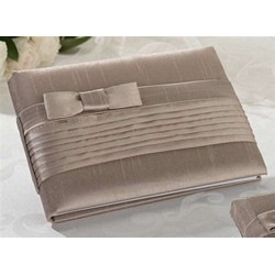 Taupe Pleated Silk Gbook