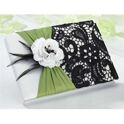 Green & Black Guestbook