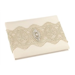 Gold Lace Guest Book